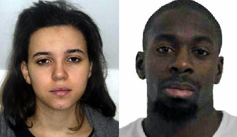 Hayat Boumeddiene (L) i Amedy Coulibaly (P) /AFP