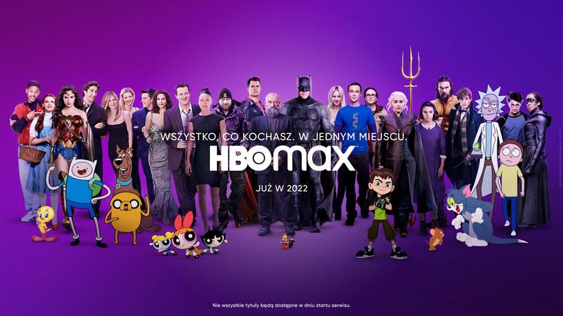 """HBO Max reklamuje się hasłem: """"Wszystko, co kochasz. W jednym miejscu"""" /HBO Max /materiały prasowe"""