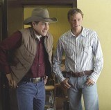"Heath Ledger i Jake Gyllenhaal w filmie ""Tajemnica Brokeback Mountain"" /"