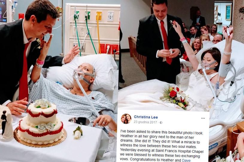 Heather Lindsay iDavid Mosher w dniu swojego ślubu, foto. Christina Lee/Facebook /Styl.pl