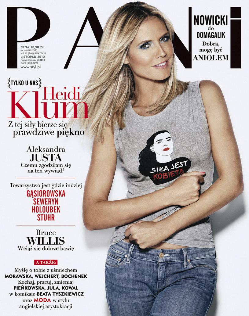 """Heidi Klum w koszulce """"Siła jest kobietą"""" /PANI"""