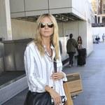 Heidi Klum w piżamie (?) na lotnisku!