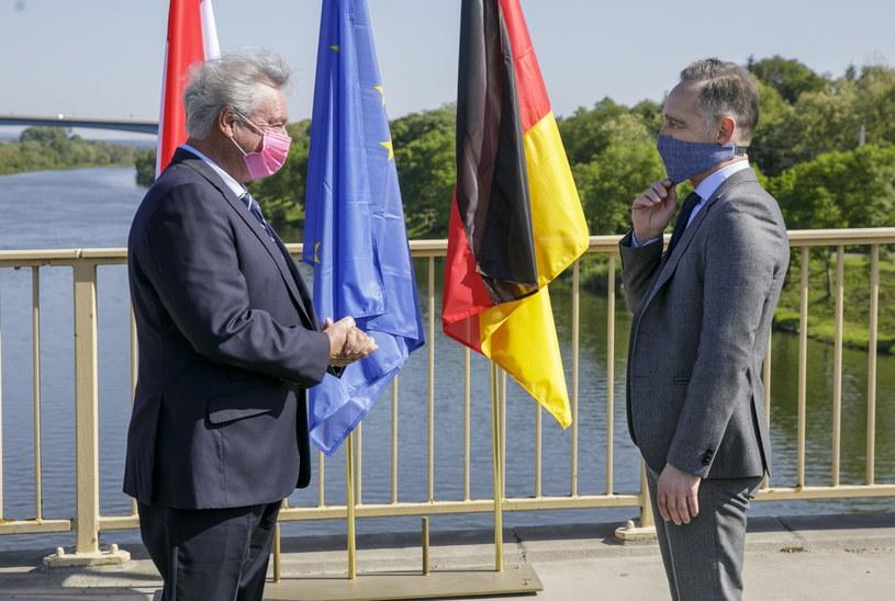 Heiko Maas (P) i Jean Asselborn (L) /PAP/EPA