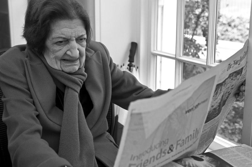 Helen Thomas na zdjęciu z 2009 roku /PAUL J. RICHARDS /AFP