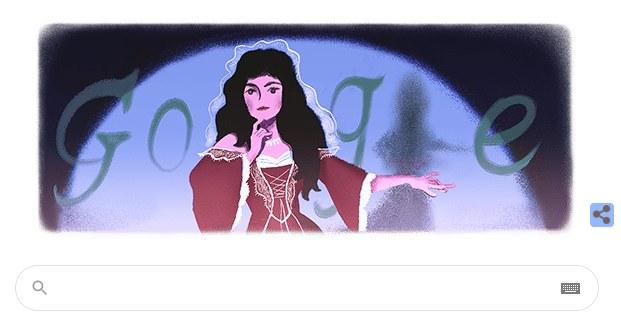 Helena Modrzejewska - Google Doodle /