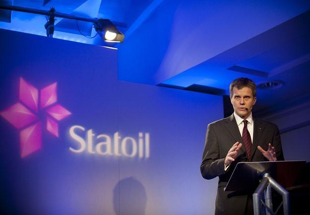 Helge Lund, prezes Statoila /AFP