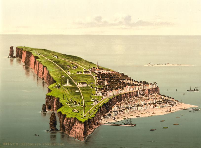 Helgoland ukazany na pocztówce. Lata 1890-1905 /Biblioteka Kongresu USA /domena publiczna