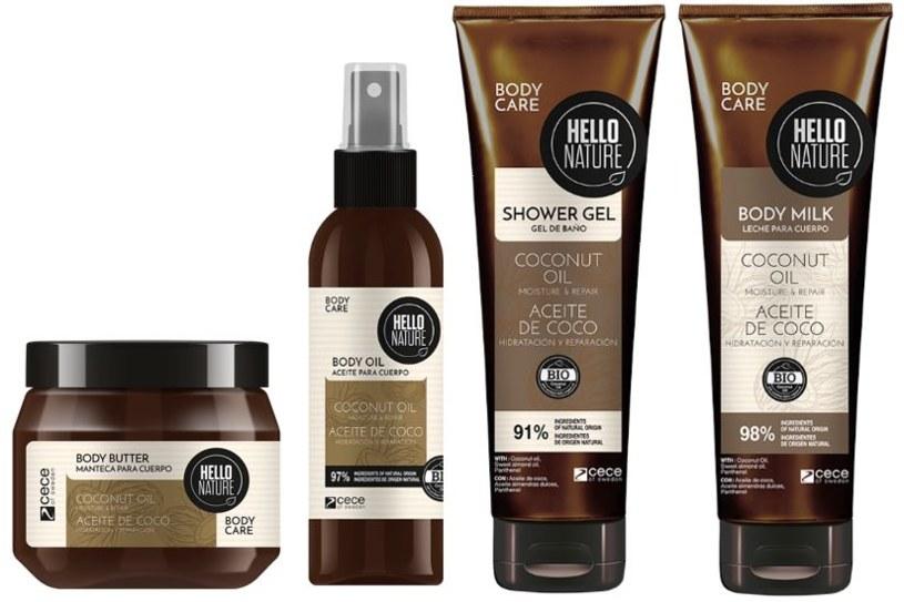 HELLO NATURE Coconut Oil – seria do pielęgnacji ciała /materiały prasowe
