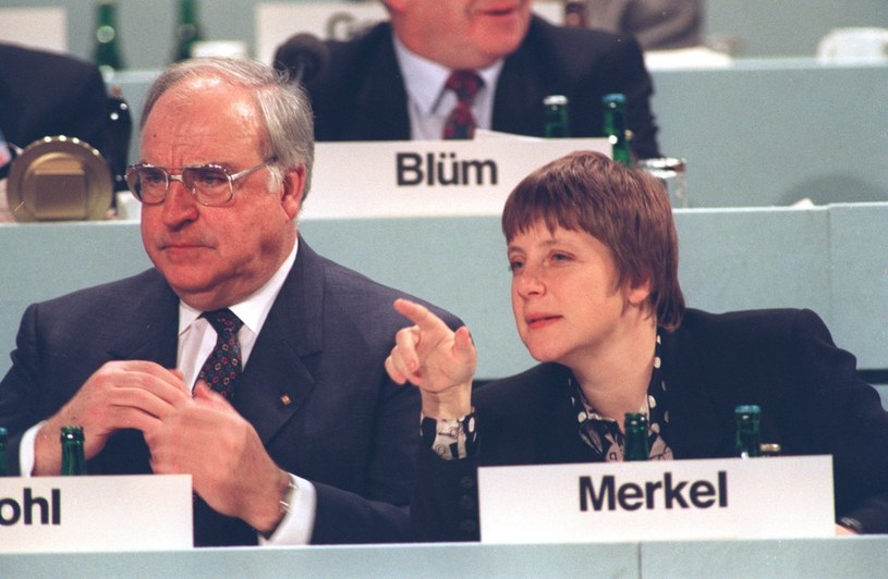 Helmut Kohl i Angela Merkel /East News
