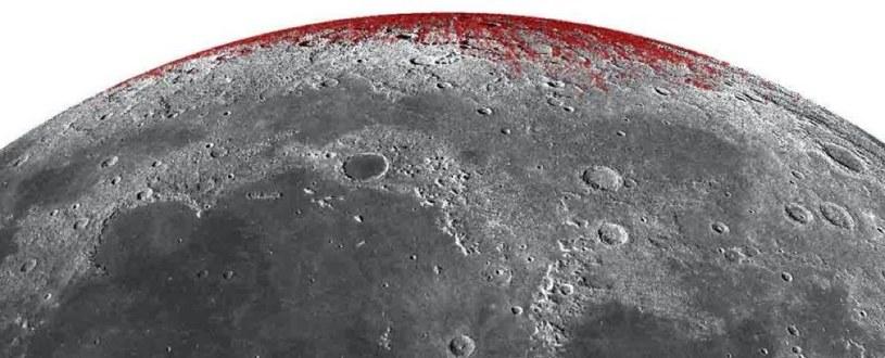 Hematyt na powierzchni Księżyca /NASA