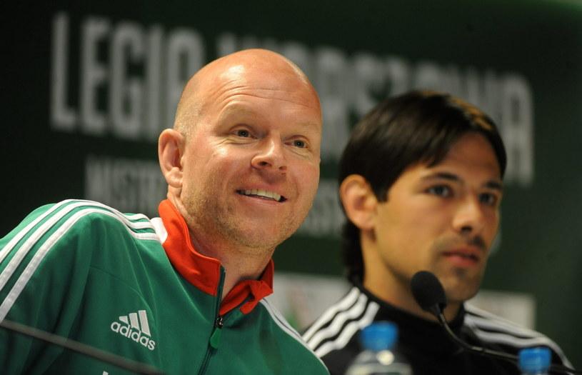 Henning Berg i Ivica Vrdoljak podczas konferencji prasowej /Bartłomiej Zborowski /PAP