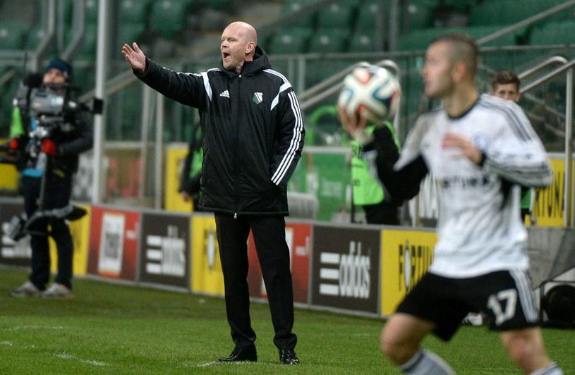 Henning Berg podczas meczu Legii z Pogonią /Bartłomiej Zborowski /PAP