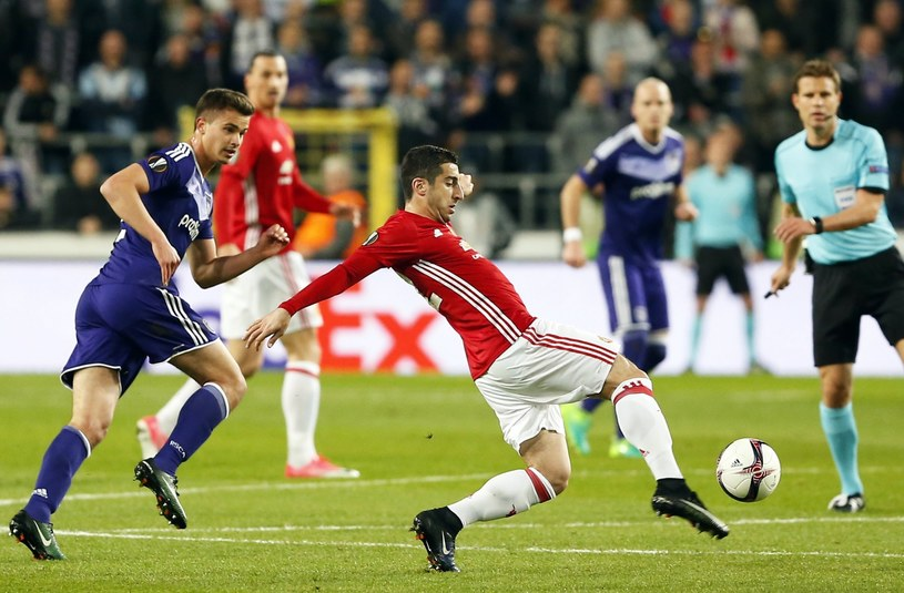 Henrich Mchitarjan w meczu z Anderlechtem /PAP/EPA