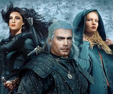 Henry Cavill i Anya Chalotra jako Geralt i Yennefer w Wiedźminie 3: Dziki Gon