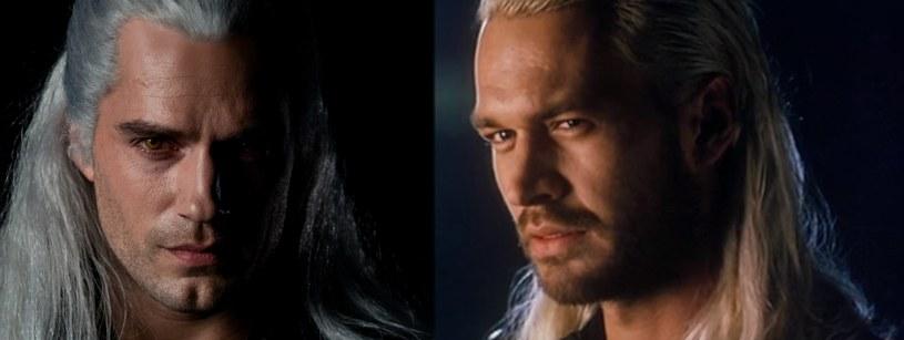 Henry Cavill i Michał Żebrowski - aktorzy odgrywający rolę Geralta w filmach na podstawie powieści Sapkowskiego. /materiały źródłowe