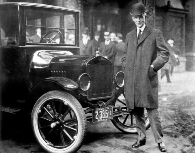 Henry Ford i Ford model T z 1921 roku /