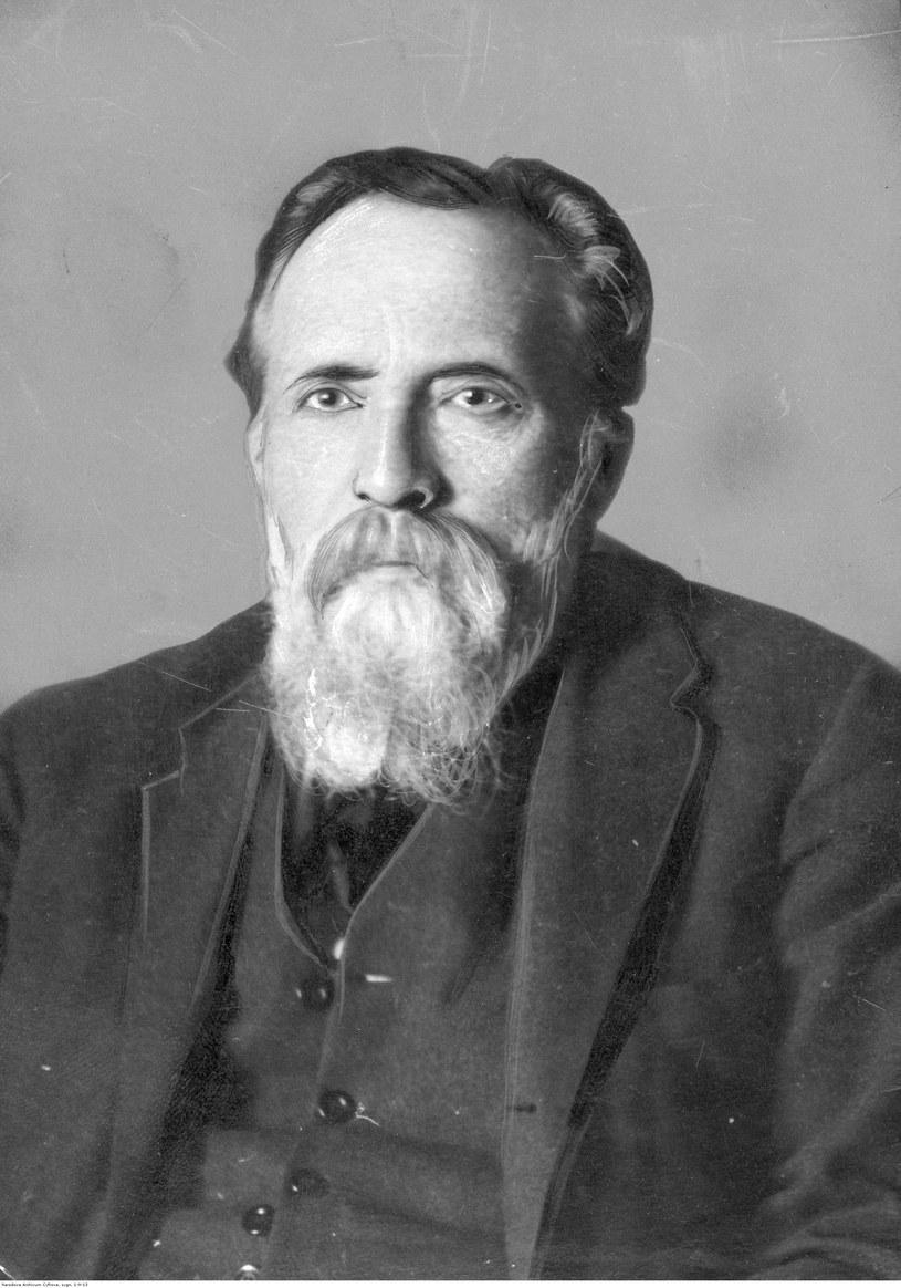 Henryk Arctowski. Geofizyk, profesor Uniwersytetu Lwowskiego. Fotografia portretowa. /Z archiwum Narodowego Archiwum Cyfrowego