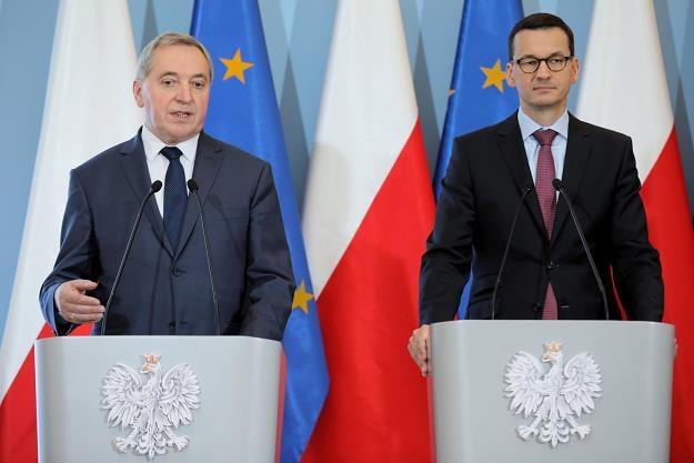 Henryk Kowalczyk (L) i Mateusz Morawiecki /PAP