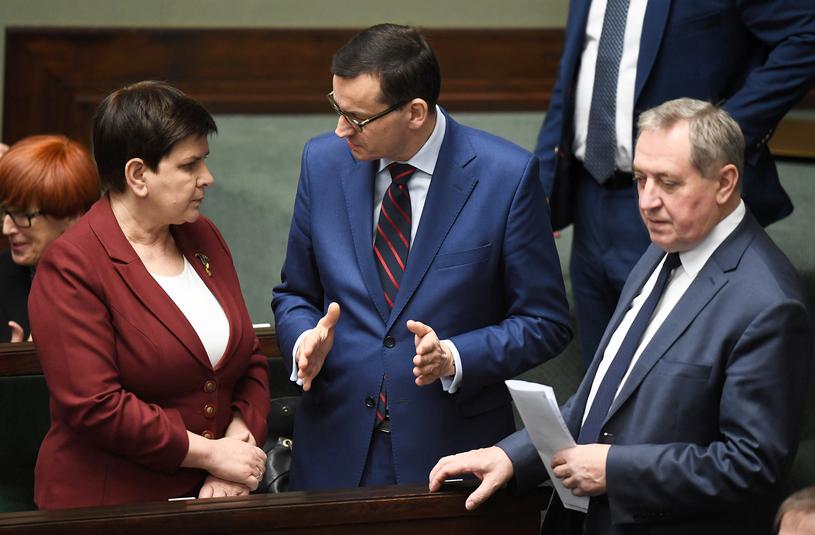 Henryk Kowalczyk, Mateusz Morawiecki, Beata Szydło /Mateusz Jagielski /East News