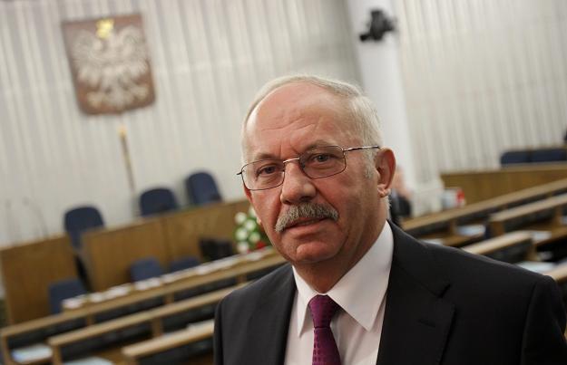 Henryk Stokłosa w Senacie, fot. B. Zborowski /PAP