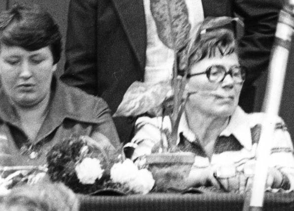 Henryka Krzywonos i Anna Walentynowicz na zdjęciu z 1980 r. /Sławek Biegański  /Agencja FORUM