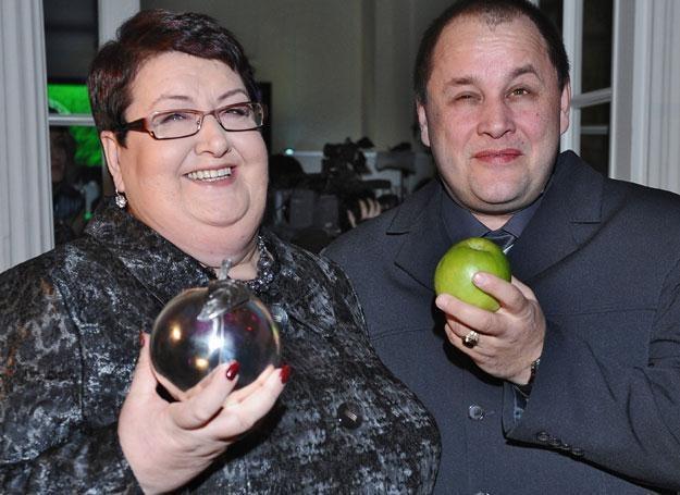 Henryka Krzywonos z mężem fot. Andras Szilagyi /MWMedia