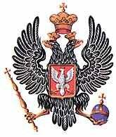 Herb Królestwa Polskiego: orzeł polski na piersi dwugłowego orła carskiego /Encyklopedia Internautica