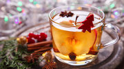 Herbata z miodem oraz sokiem z jabłek i malin
