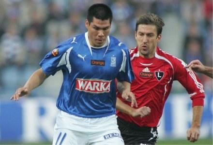 Hernan Rengifo i Wojciech Szala Fot. Marek Biczyk /Agencja Przegląd Sportowy