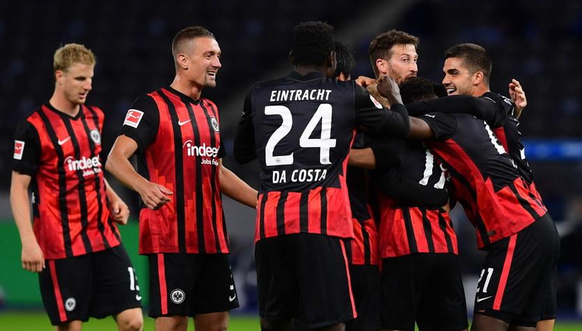 Hertha Berlin - Eintracht Frankfurt 1-3 w 2. kolejce Bundesligi. Krzysztof Piątek grał do 46. minuty