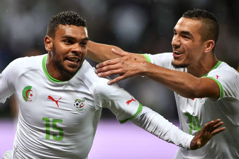 Hilal El Arbi Soudani (z lewej) strzelił zwycięskiego gola w meczu z Rumunią /AFP