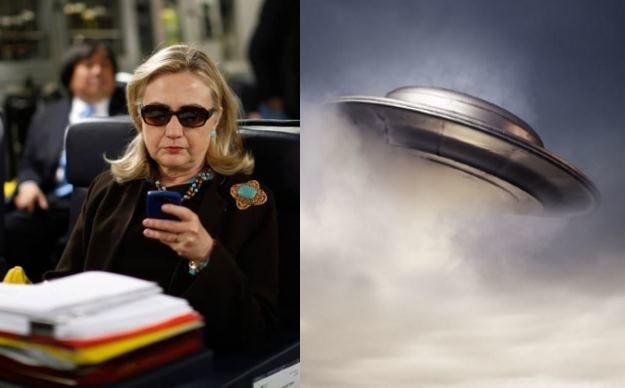 """Hilary Clinton, która ma całkiem spore szanse na zwycięstwo w nadchodzących wyborach prezydenckich w USA, chce """"przyjrzeć się"""" tematyce związanej z kosmitami         Fot. 123RF/PICSEL/materialy prasowe /INTERIA.PL"""