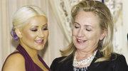Hilary Clinton podziwia biust Aguilery