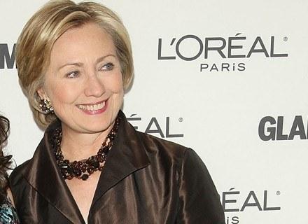 Hilary Clinton w sukni od Oscara de la Renty /Getty Images/Flash Press Media