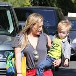 Hilary Duff bez stanika z synem
