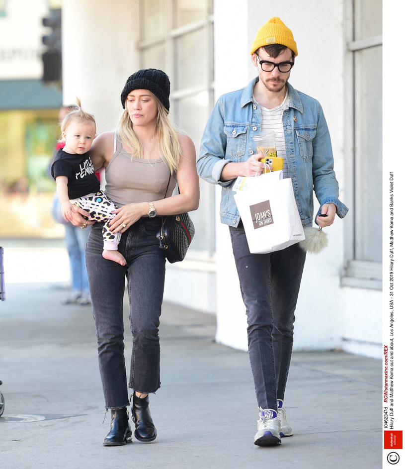 Hilary Duff i Matthew Koma z córką /brak /East News