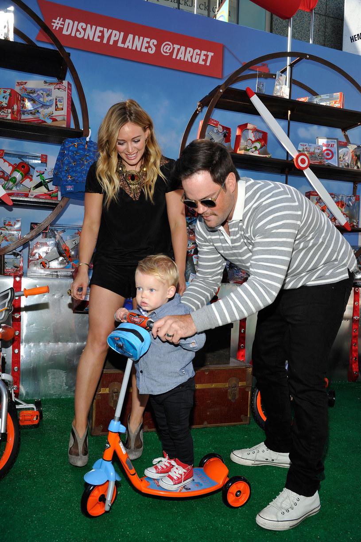Hilary Duff z byłym mężem i synkiem /John Sciulli /Getty Images