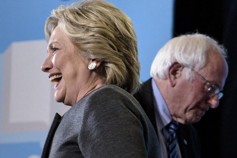 Hillary Clinton i Bernie Sanders /AFP