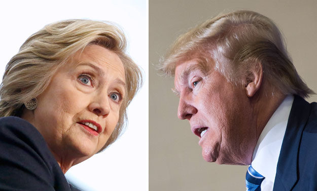 Hillary Clinton i Donald Trump walczą o fotel prezydencki /AFP