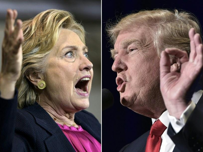 Hillary Clinton i Donald Trump /AFP