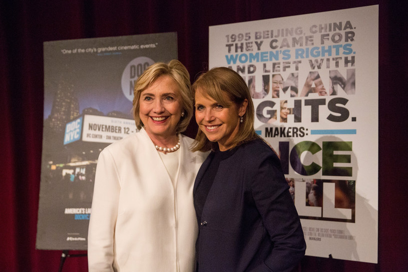 Hillary Clinton i Katie Couric /Andrew Burton /Getty Images