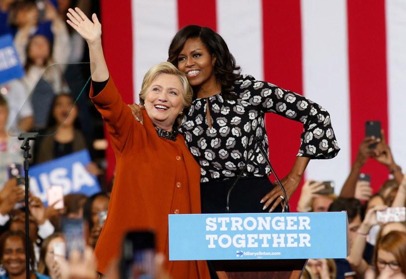 Hillary Clinton i Michelle Obama /PAP/EPA