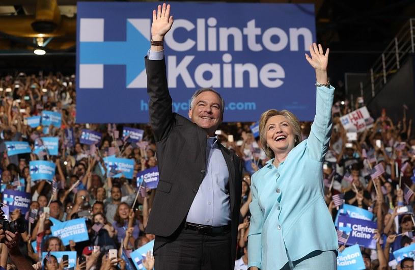 Hillary Clinton i Tim Kaine /AFP