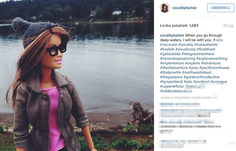 Hipsterska Barbie /@socialitybarbie /Instagram