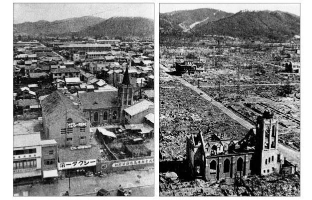 Hiroszima - krajobraz po wybuchu bomby jądrowej /AFP