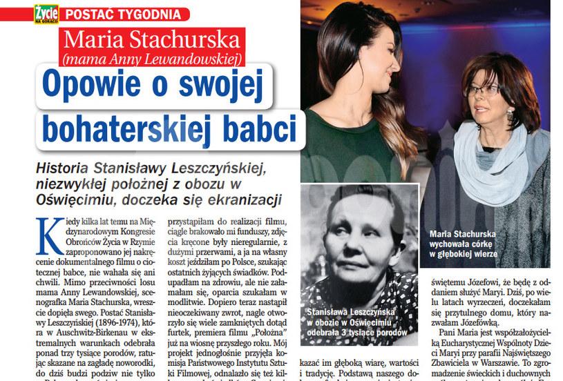 """Historia Stanisławy Leszczyńskiej, niezwykłej położnej z obozu w Oświęcimiu, doczeka się ekranizacji - donosi tygodnik """"Życie na gorąco"""" /Życie na gorąco"""