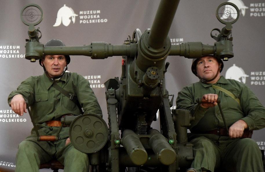 Historyczna armata przeciwlotnicza Bofors kal. 40mm /Radek Pietruszka /PAP