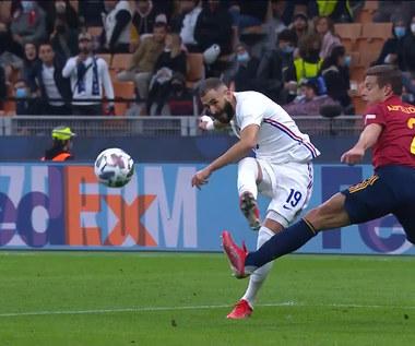Hiszpania - Francja. Karim Benzema popisał się pięknym trafieniem. WIDEO (Polsat Sport)