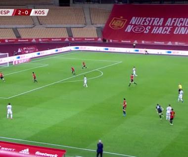 Hiszpania - Kosowo. Niesamowity gol Halimiego prawie z połowy boiska. Wideo