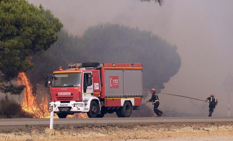 Hiszpania. W związku z potężnymi pożarami ewakuowano tysiące osób /Julian Perez /PAP/EPA